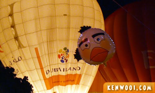 putrajaya hot air balloon sad bird