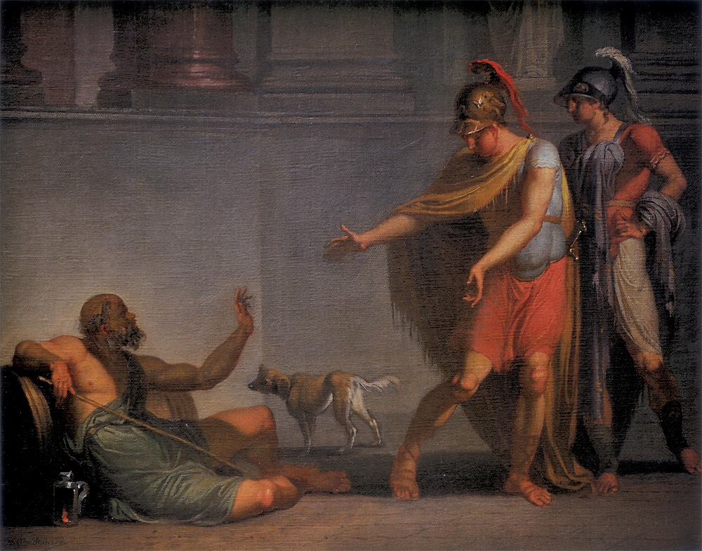 quick notes on diogenes and alexander essay