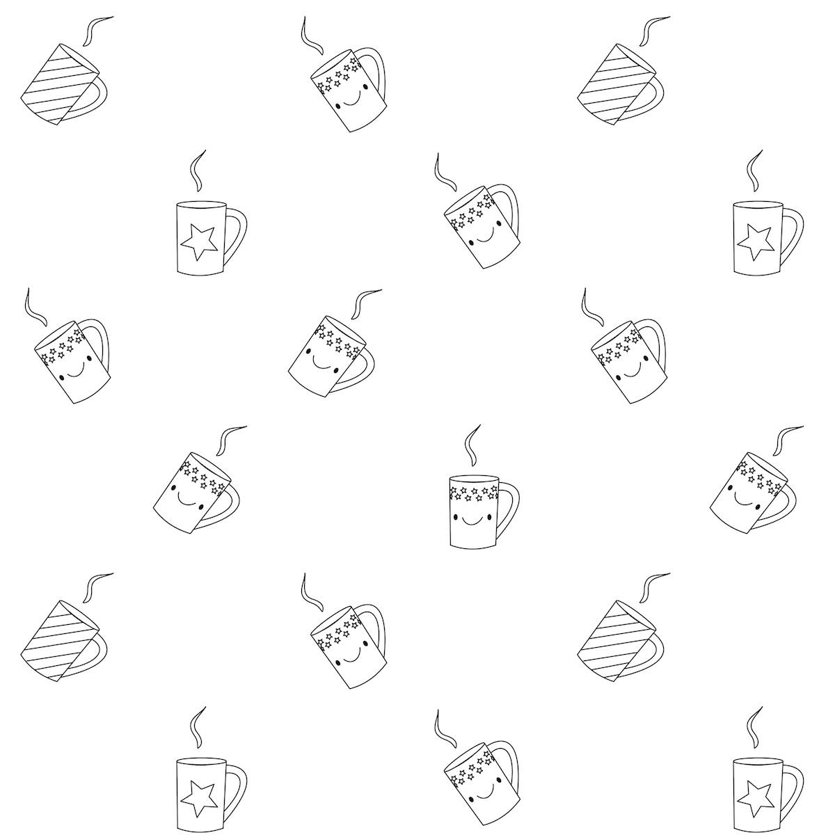 free printable coloring page coffee ausdruckbares ausmalpapier