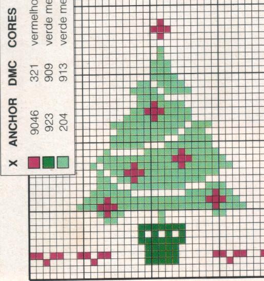 Схема вышивки крестиком елки 51