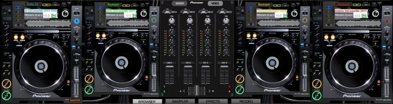 3 decks virtual dj