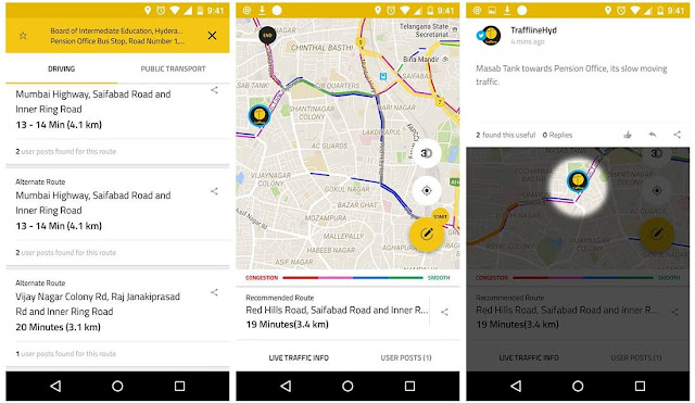 Traffline App Interface