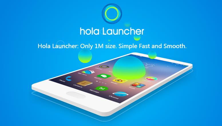 بهرنامه بۆ ئهندرۆید Hola Launcher - Simple & Fast Apk