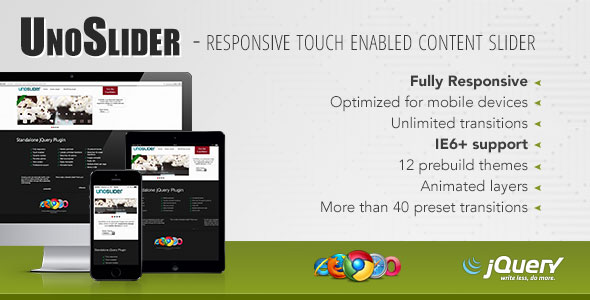 Free Download UnoSlider Responsive Touch Enabled Slider Wordpress plugin