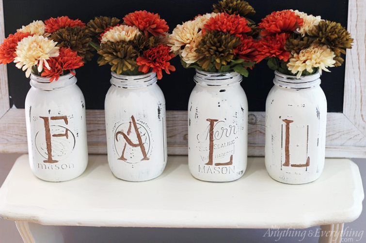 DIY Fall Mason Jar Vases