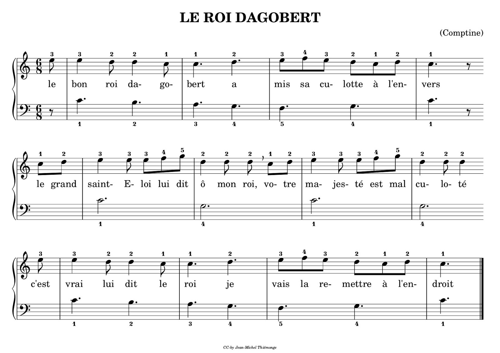 Partition Piano Pour Debutant 1