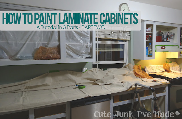 How to Paint Laminate Cabinets - Part Two