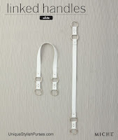 White Linked Fashion Handles