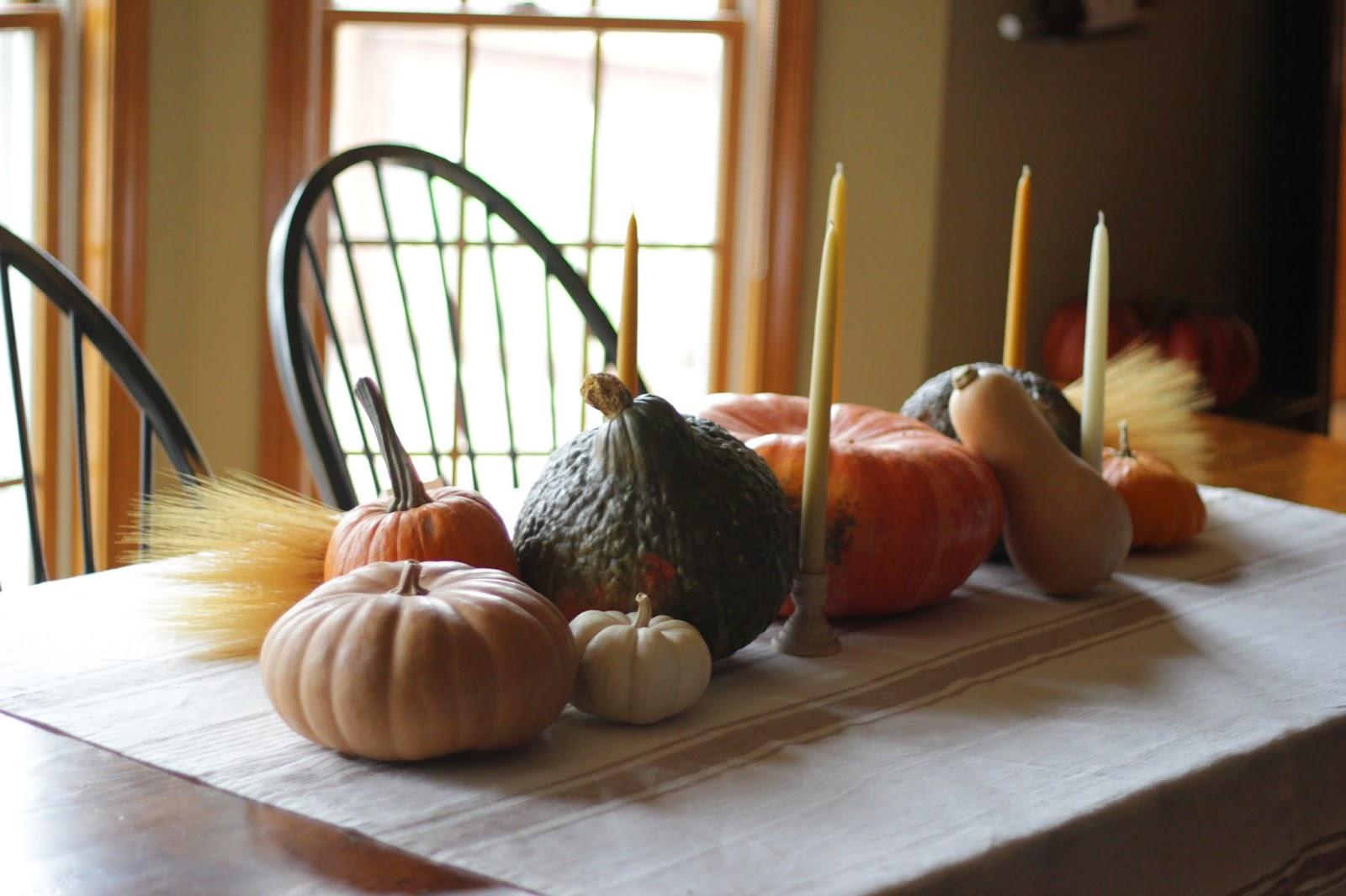 Jenny Steffens Hobick: Pumpkins & Gourds Harvest Table Setting for ...