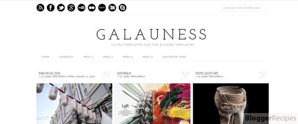 Galauness Blogger Template