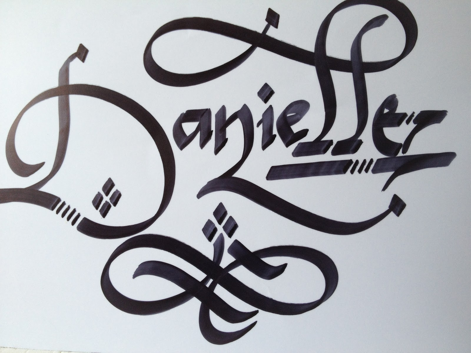 Calligraphy art girl names in jennifer
