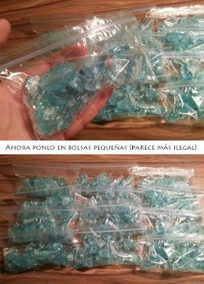 Metanfetamina azul en bolsa