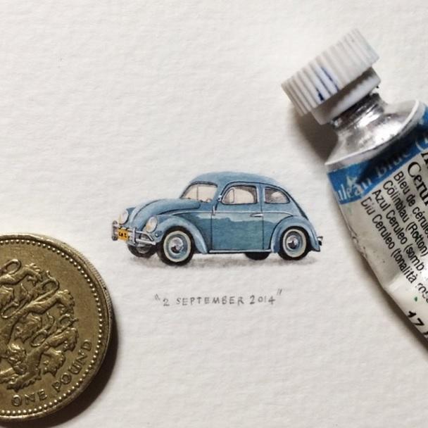 Postales para Hormigas: Proyecto de pinturas en miniatura en días 365 por Lorraine Loots
