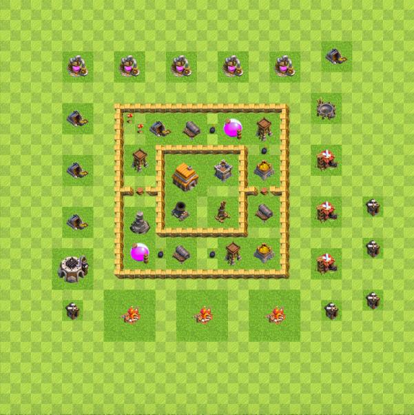Town hall level 5 war base