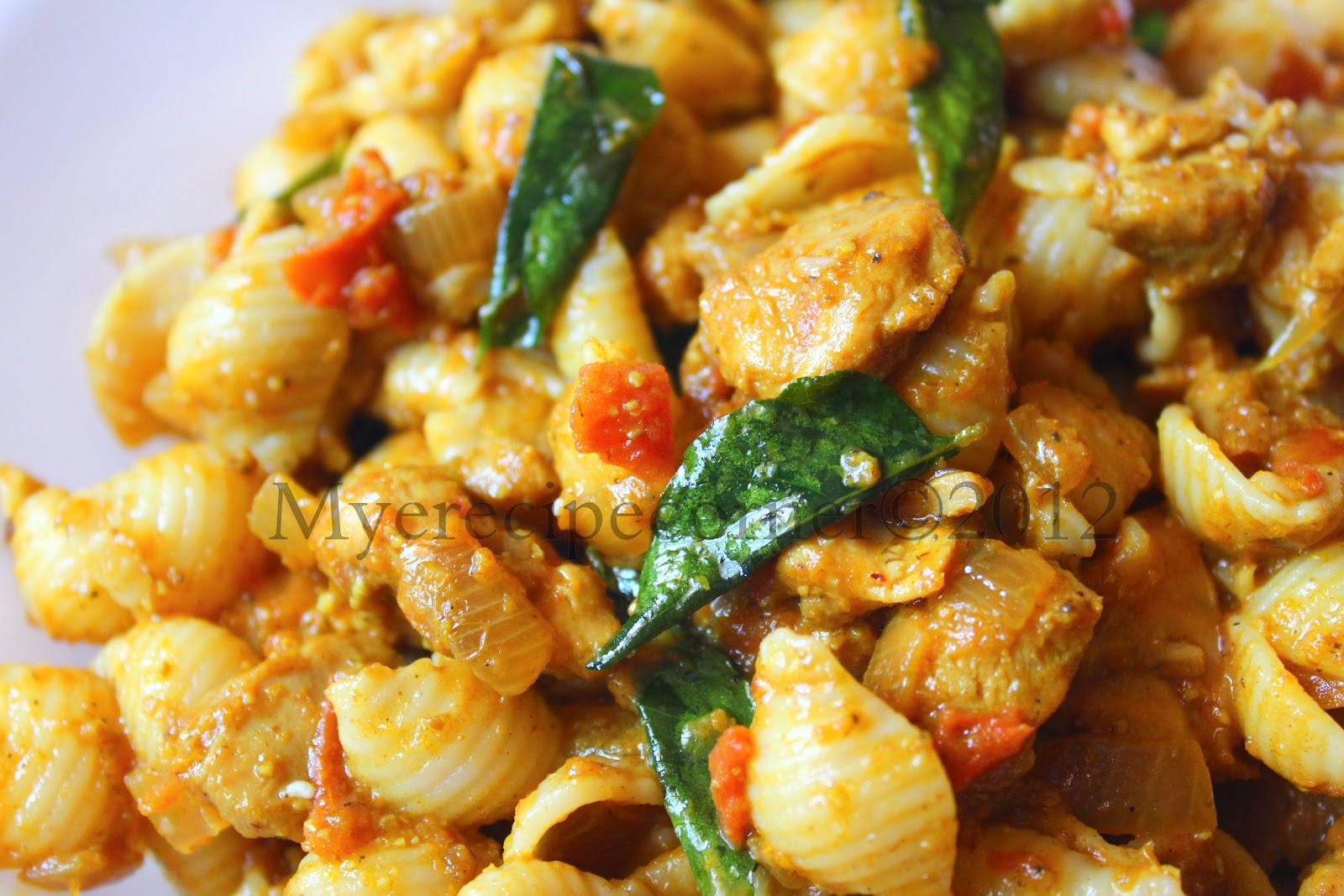 Myes Kitchen Indian Style Chicken Pasta Recipe