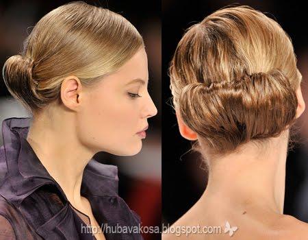 Прически с прибрана коса – Carolina Herrera Есен/Зима 2011/12
