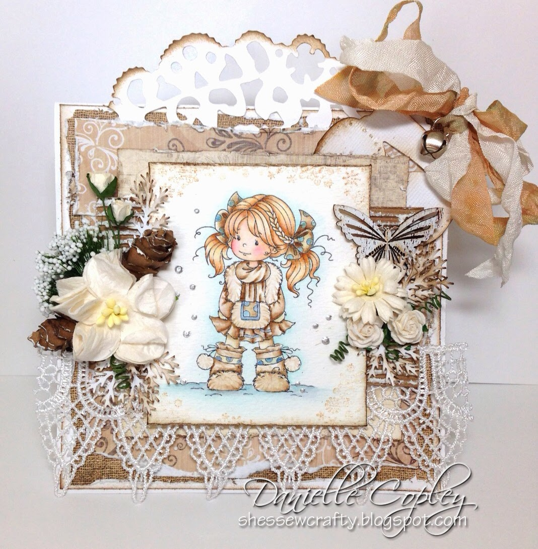 Whimsy Heidi by Sylvia Zet card for Scrapbook Maven using So Lovely Tag Doohickey