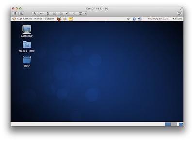 VM Fusion 5を買ってきて、MacにLinux Cent OSをインストールした話