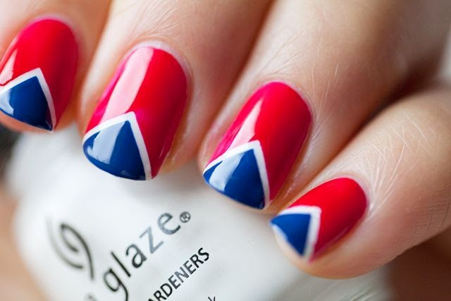 fourth of july 4 nails art