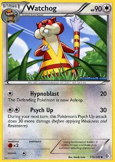 Watchog Boundaries Crossed Pokemon Card
