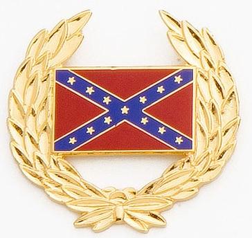 rebel flag hatpin