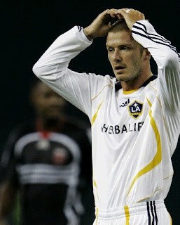 Beckham with the LA Galaxy jersey