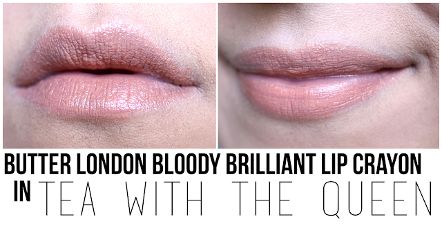 Butter London Bloody Brilliant Lip Crayon in Tea with the Queen