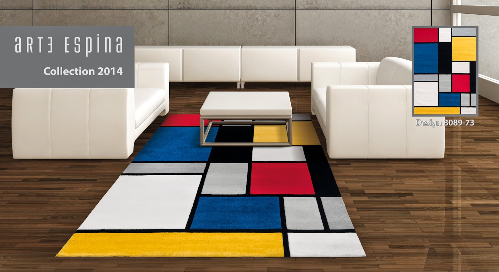 Coloured Cubes Rug