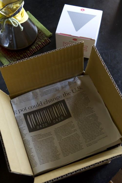 プロキッチンの梱包 コアヴァKone ステンレスコーヒーフィルター