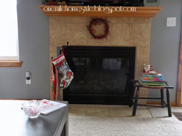 Granite Grey Fireplace - After