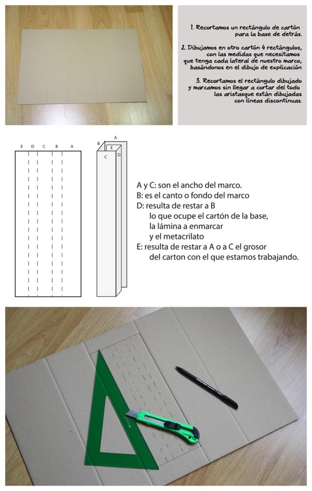 DIY: Cómo se hace un marco con cartón, por Erika : x4duros.com