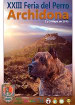 Cartel XXIII Feria del Perro Archidona 2014