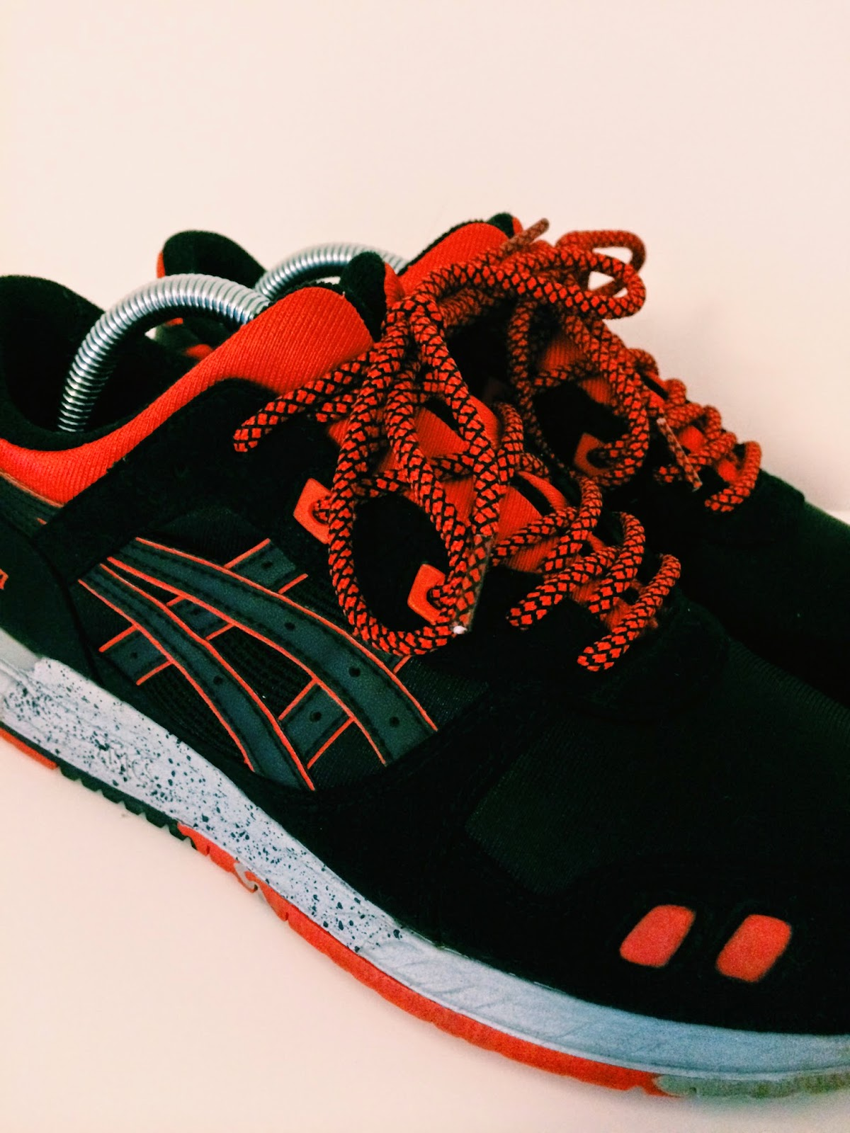 ropes laces custom laces asics kith caviar gel lyte iii