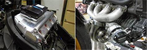 Aplikasi mesin turbo pada 4-silinder mesin R1