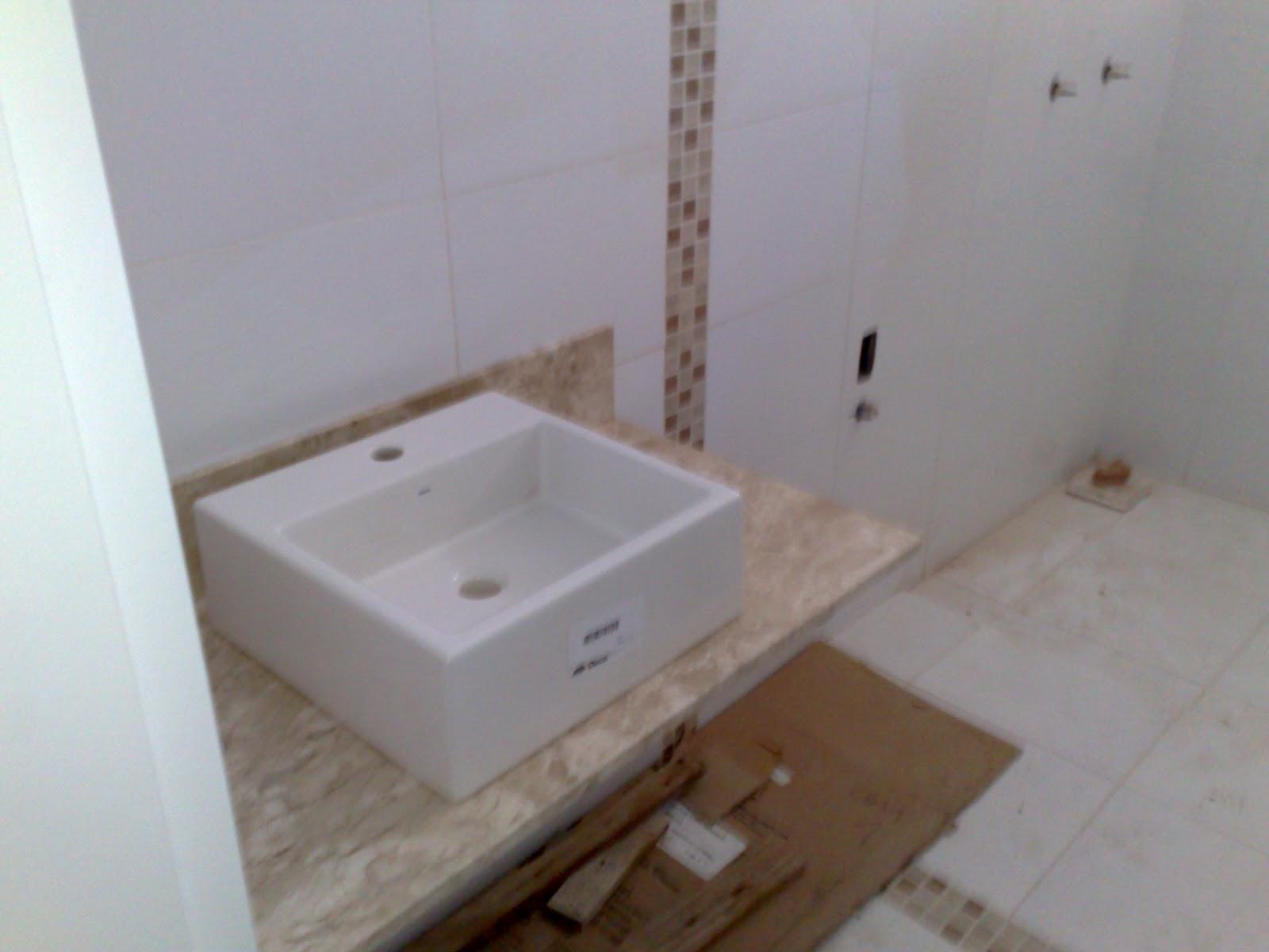 Passo a passo da construção da minha primeira casa #3F2C1E 1600x1200 Bancada Banheiro Marmore Travertino