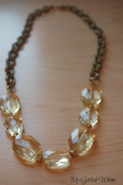 http://www.mygirlishwhims.com/2013/02/chunky-yellow-bead-chain-necklace.html