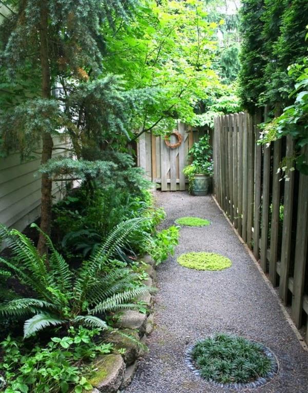 10 soluciones para jardines largos y estrechos guia de for Amaru en la puerta de un jardin