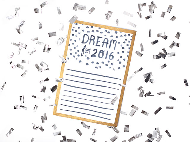 Dreamin' in 2016 - Free printable for setting your awesome goals in '16!