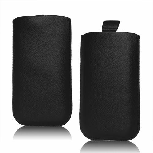 Universal Leather Pouch Case with Pull Tab for Samsung Galaxy S 3 / III i9300 S 4 IV i9500 i9505, Size: 14.1 x 7.8cm - Black
