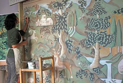 Melissa painting verdure