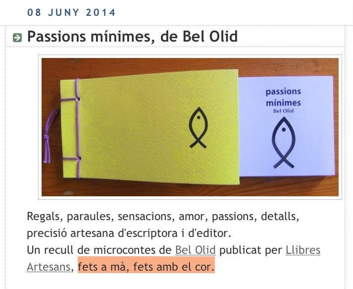 Llibre Passions mínimes de Bel Olid