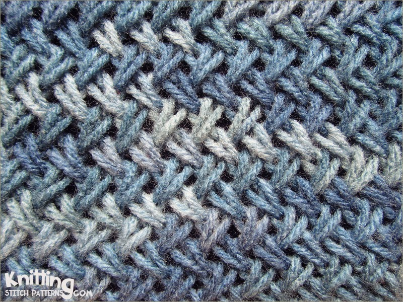 Knitting 4 Stitches Together : Criss-Cross Stitch Knitting Stitch Patterns