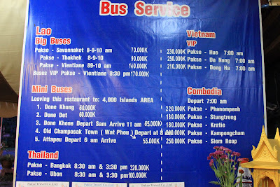 VIP Bus Schedules Pakse