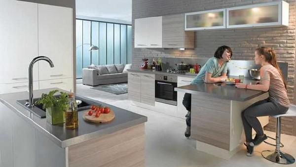 Modern kitchen collection from conforama kitchen design - Cuisine grise conforama ...