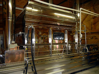 Maple syrup evaporizer machinery in a Vermont sugarhouse