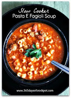 Recipe for Crock Pot Copycat Olive Garden Pasta e Fagioli Soup #copycat #crockpot #soup