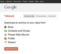 Before Google  takeout