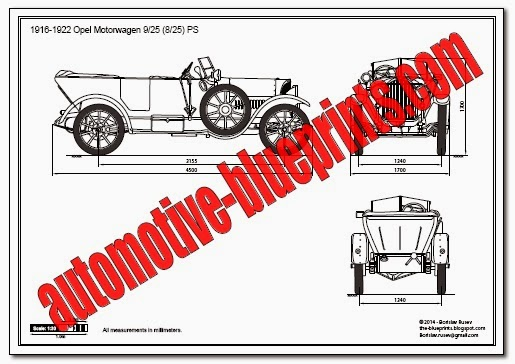 Vector Blueprints - Cars, Trucks, Busses and others: Opel - Vector ...