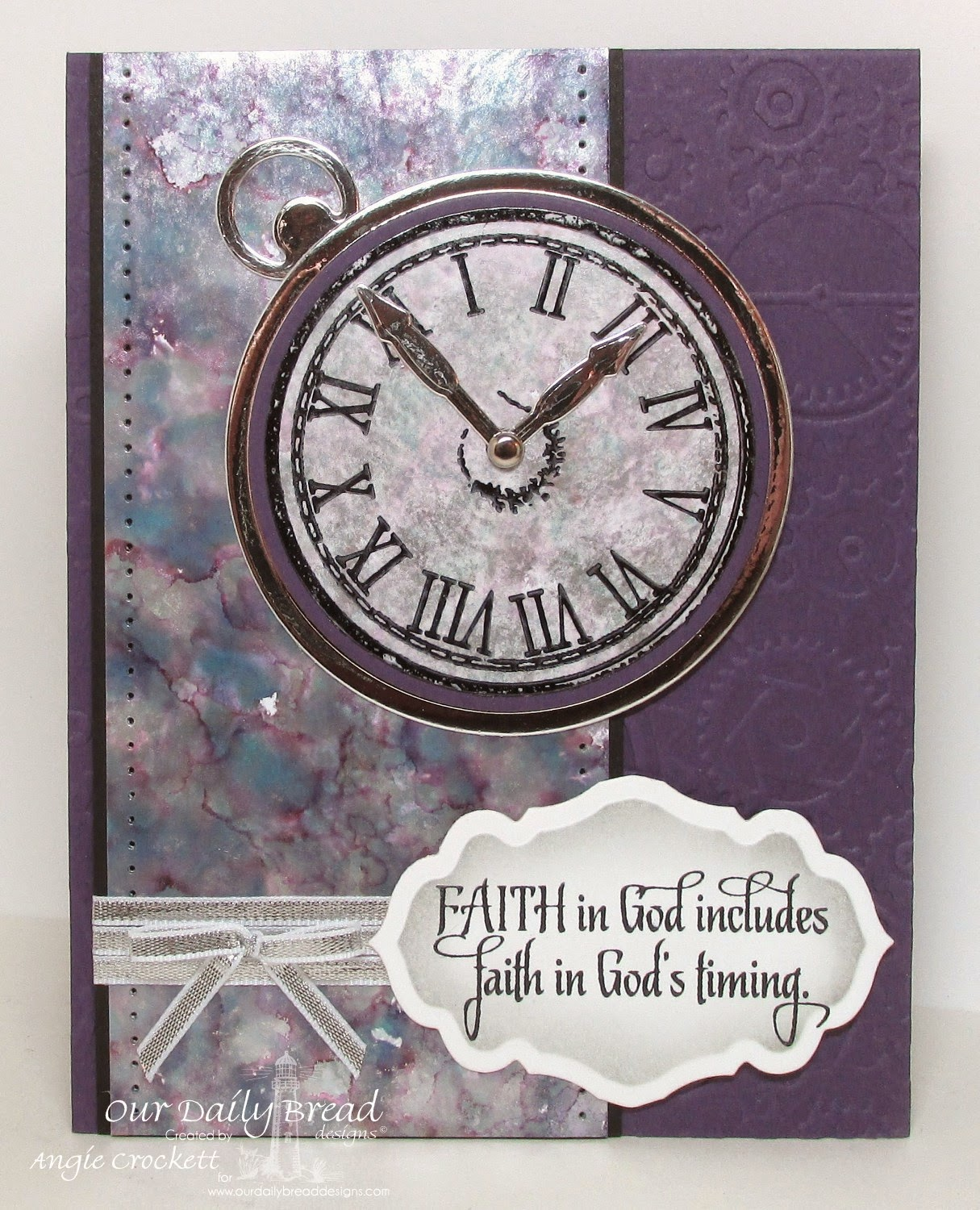ODBD God's Timing, ODBD Custom Matting Circles Dies, ODBD Custom Circle Ornaments Dies, ODBD Custom Antique Labels and Border Dies, Card Designer Angie Crockett