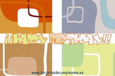Fondos de colores Happy Birthday